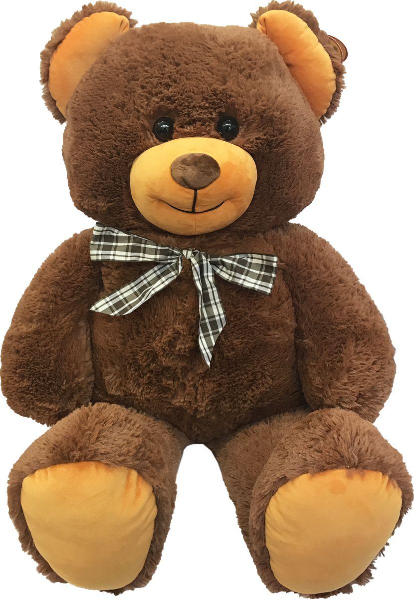 СмолТойс Мягкая игрушка Медведь цвет коричневый с бантом 103 см мягкая игрушка смолтойс медвежонок тедди коричневый 30 см