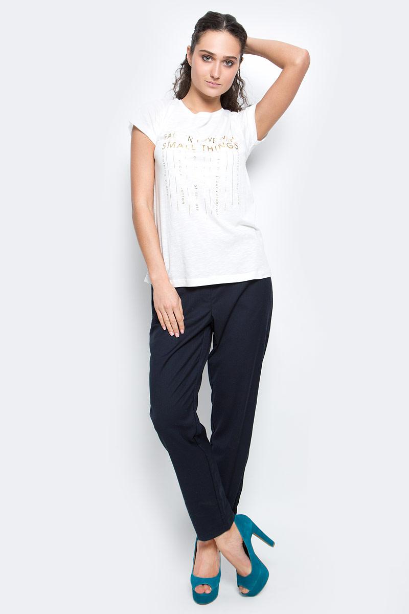 Футболка женская Baon, цвет: белый. B237070_Milk. Размер XL (50) футболка женская baon цвет белый b237081 white размер xl 50