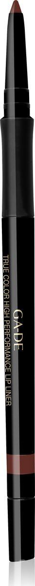 Ga-de Карандаш для губ True Color № 08, 0,35 гр131500008Водостойкий контурный карандаш для губ.Мягкая кремовая текстура предотвращает смазывание и растекание помады в течении дня. Не меняет свой цвет и не тускнеет, подчеркивает естественную форму губ. Формула, обогащенная комплексом керамидов и гиалуроновой кислотой обеспечивает чувственный уход за нежной кожей губ. Не требует затачивания.