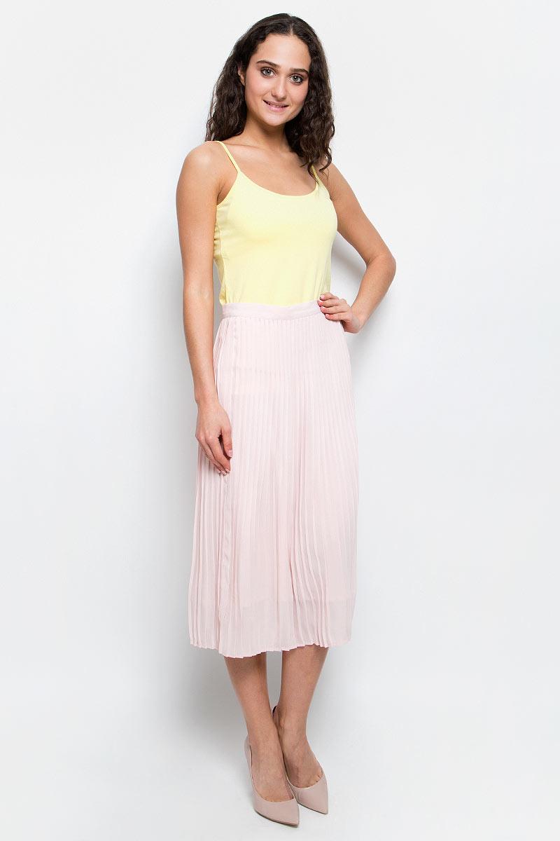 Юбка женская Baon, цвет: бледно-розовый. B477018_Pearl. Размер XL (50) платье baon цвет бледно голубой b457056
