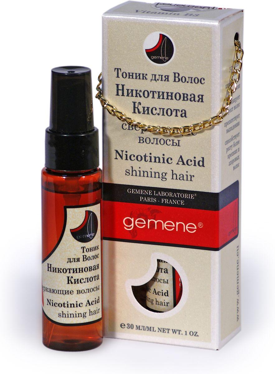 Gemene Тоник с никотиновой кислотой для волос, 30 мл, помпа4751006751446Комплекс из натуральных источников минералов и микроэлементов и никотиновый кислоты в оптимальной концентрации призван активировать работу волосяных луковиц и поддержать рост красивых и шелковистых волос.Улучшает микроциркуляцию крови, активирует рост волос, препятствует выпадению, способствует росту более крепких и здоровых волосю