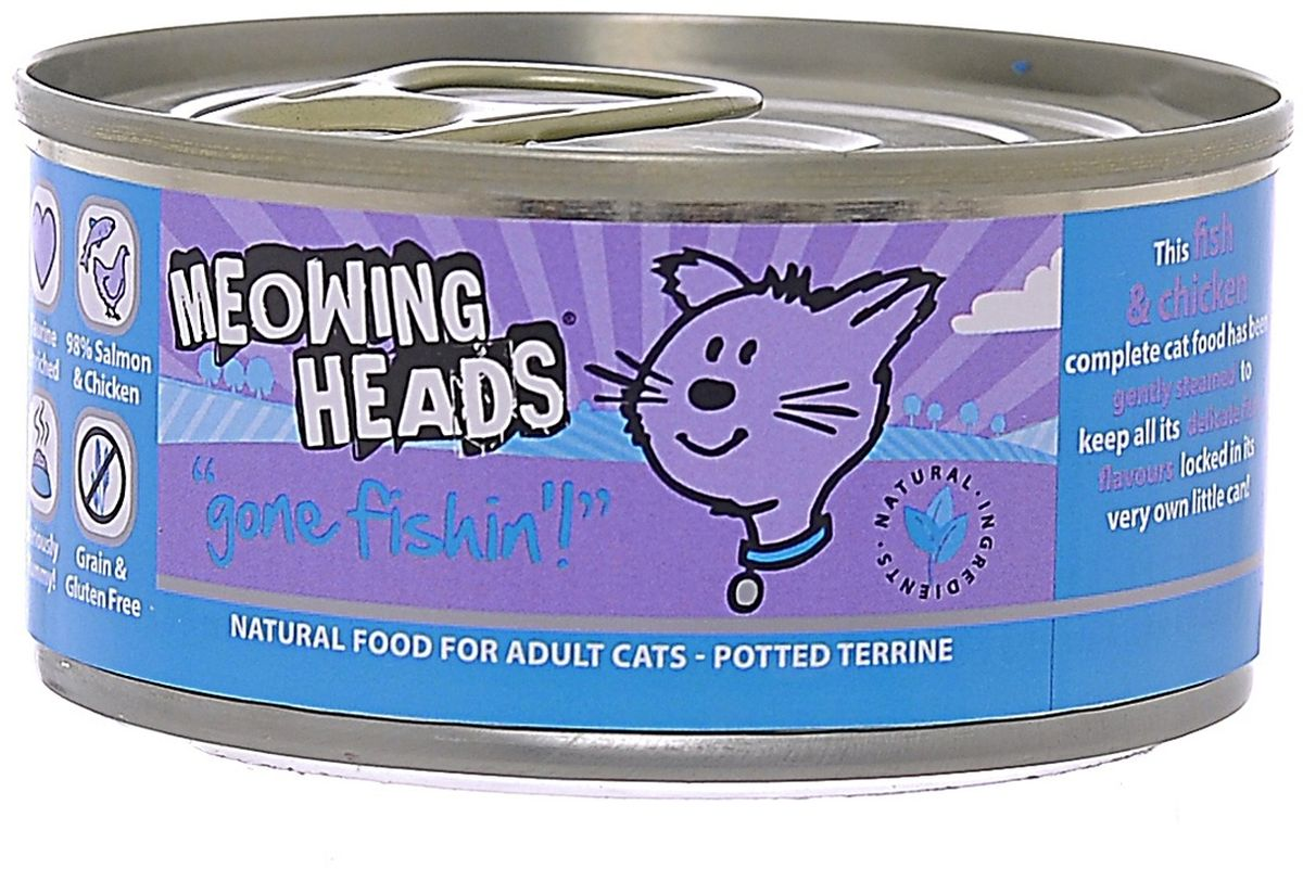 Консервы Barking Heads Удачная рыбалка для кошек, с морской рыбой и курицей, 100 г20654Консервы Barking Heads Кряква для мелколапого - это обед аристократа. Пусть питомец почувствует всю вашу любовь! Отличный вкус, нежный аромат натурального корма и заботливый хозяин рядом - что еще нужно счастливому питомцу! Консервы можно использовать в качестве полнорационного корма.Состав: 98% курицы и лосося ( 45% лосося, 28% курицы, 25% куриного бульона), минералы, лососевый жир, подсолнечное масло.Гарантированный состав: белок 10.6%, жиры 6.5%, зола 2.4%, клетчатка 0.4%, влага 79%. Витамины (на кг): витамин D3 200IU/кг, витамин E 30 мг/кг. Комплекс микроэлементов: моногидрат сульфата цинка 15 г, моногидрат сульфата марганца 3 г, иодат кальция 0.75 мг.Товар сертифицирован.