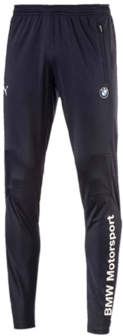 Брюки спортивные мужские Puma BMW MSP Track Pants, цвет: синий. 57278701. Размер XXL (52/54)57278701Мужские спортивные брюки BMW MSP Track Pants созданы для тренировок на треке или для выходных дней, проведенных на диване за просмотром больших гонок. Брюки выполнены из 100% полиэстера. Среди отличительных особенностей изделия - эластичный пояс для удобной посадки, два боковых кармана на молнии. Застежки-молнии на шлицах по низу штанин позволяют легко снимать и надевать брюки. Брюки декорированы эмблемой BMW Motorsport внизу левой брючины, логотипом BMW на левом бедре и логотипом PUMA на правом бедре.