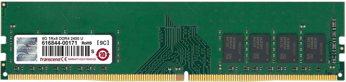 Transcend DDR4 DIMM 8GB 2400МГц модуль оперативной памяти (TS1GLH64V4B)TS1GLH64V4BОперативная память Transcend типа DDR4 по сравнению с предшествующими типами модулей обладает рядом преимуществ. Модуль имеет пониженное напряжение 1,2 В, что позволяет уменьшить энергопотребление. Тактовая частота 2400 МГц обеспечивает качественную синхронизацию процессов и быструю передачу данных. Объем данной оперативной памяти составляет 8 ГБ, что несомненно удовлетворит потребности пользователей, которым нужна высокая производительность и стабильность системы.