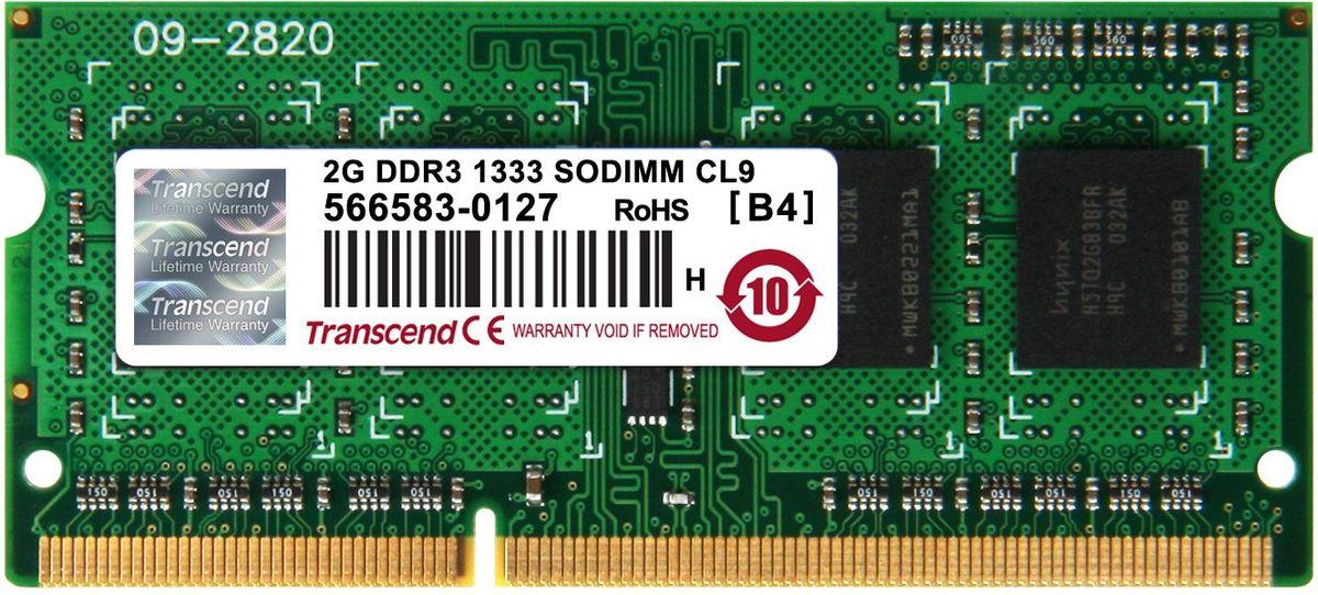 Transcend DDR3 SODIMM 2GB 1333МГц модуль оперативной памятиTS256MSK64V3NМиниатюрные размеры модуля памяти Transcend DDR3 SODIMM 2GB делают его подходящим для использования в ноутбуках. Частота 1333 МГц обеспечивает его высокую производительность (этот параметр легко можно отследить с помощью стандартного теста, проведенного любой операционной системой). Установка проста, не занимает много времени и не требует от вас наличия специальных знаний и умений. Модуль изготовлен из высококачественного текстолита, благодаря чему обладает очень высокой прочностью и долговечностью.Количество ранков: 1