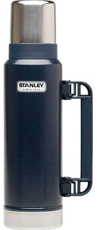 Термос Stanley Classic Vac Bottle Hertiage, цвет: синий, 1,3 л термос stanley classic vacoom flask 500ml dark blue 10 00811 013