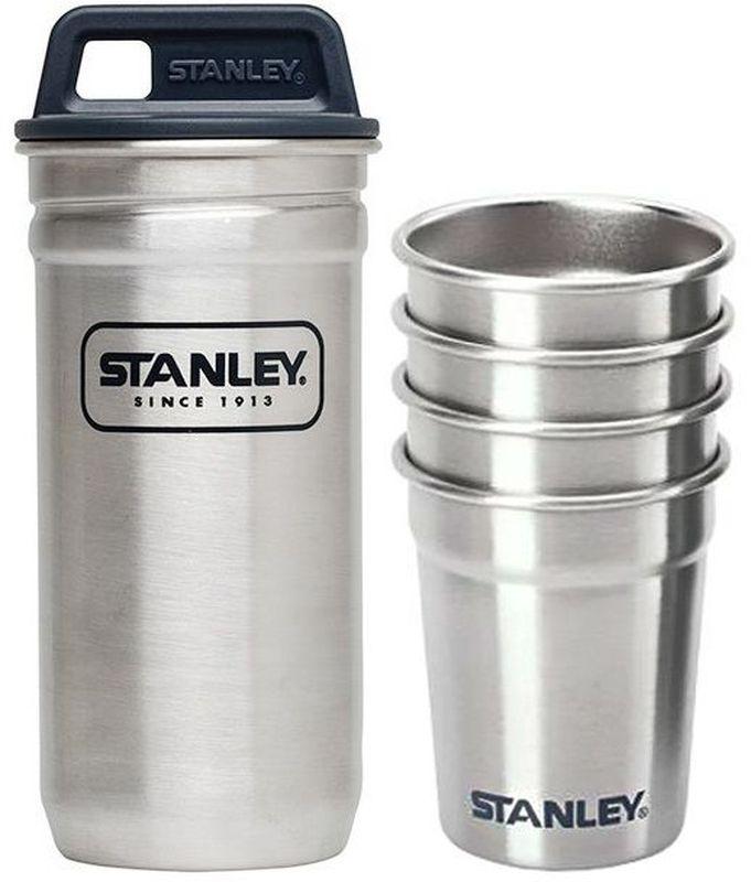 Набор стопок Stanley Adventure, в футляре, цвет: стальной, 59 мл, 5 предметов10-01705-017Набор стопок Stanley Adventure включает 4 стопки, выполненных из нержавеющейстали 18/8. Изделия отличаются высоким качеством, компактностью, стойкостью кпоявлению ржавчины. Для хранения стопок предусмотрен футляр с завинчивающейсяпластиковой крышкой. Набор очень компактный и не занимает много места, его удобнобрать с собой в поездки и на природу. Набор пригоден для мытья в посудомоечной машине.