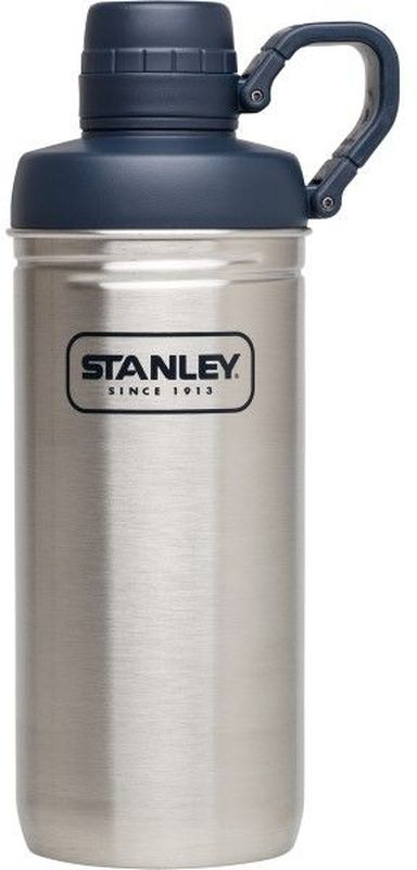 Бутылка для воды Stanley Adventure, цвет: стальной, 620 мл10-02112-002Бутылка для воды Stanley Adventure изготовлена из нержавеющей стали. Изделие оснащено интегрированным кольцом - держателем крышки. Сохраняет тепло 1 час, холод и напитки со льдом – 4 часа.Многоразовая бутылка пригодится в спортзале, на прогулке, дома, на даче. Объем: 620 мл. .