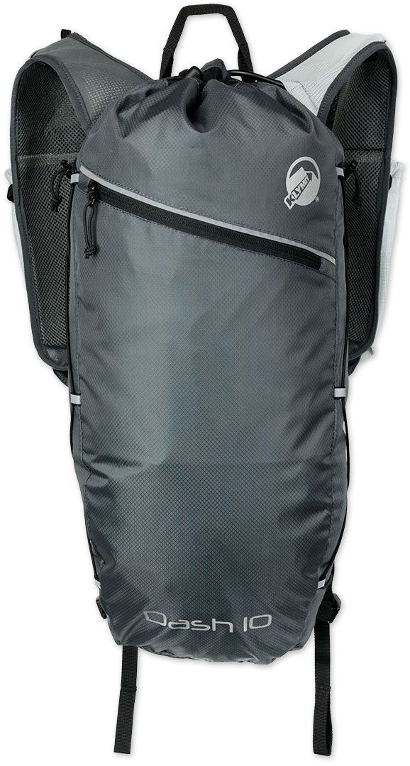 Рюкзак туристический Klymit Dush, цвет: серый, 10 л12SDSGY01BРюкзак туристический Klymit Dush с технологией Air Frame (воздушная рамка с сеткой), которая обеспечивает оптимальный воздухообмен и комфорт, встроен насос.Характеристики:Объем: 10 л. Вес: 430 г. Материал: нейлон 210D. Нагрузка: 7 кг. Размер: 40 x 59 см.