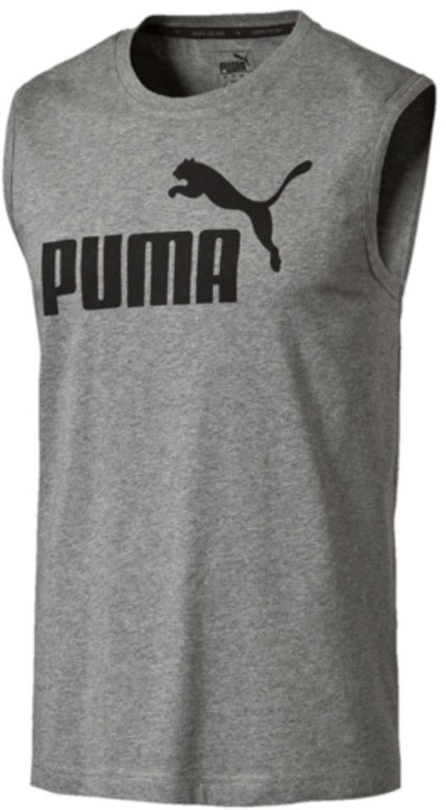 Купить Майка мужская Puma ESS No.1 SL Tee, цвет: серый. 838240_03. Размер L (48/50)