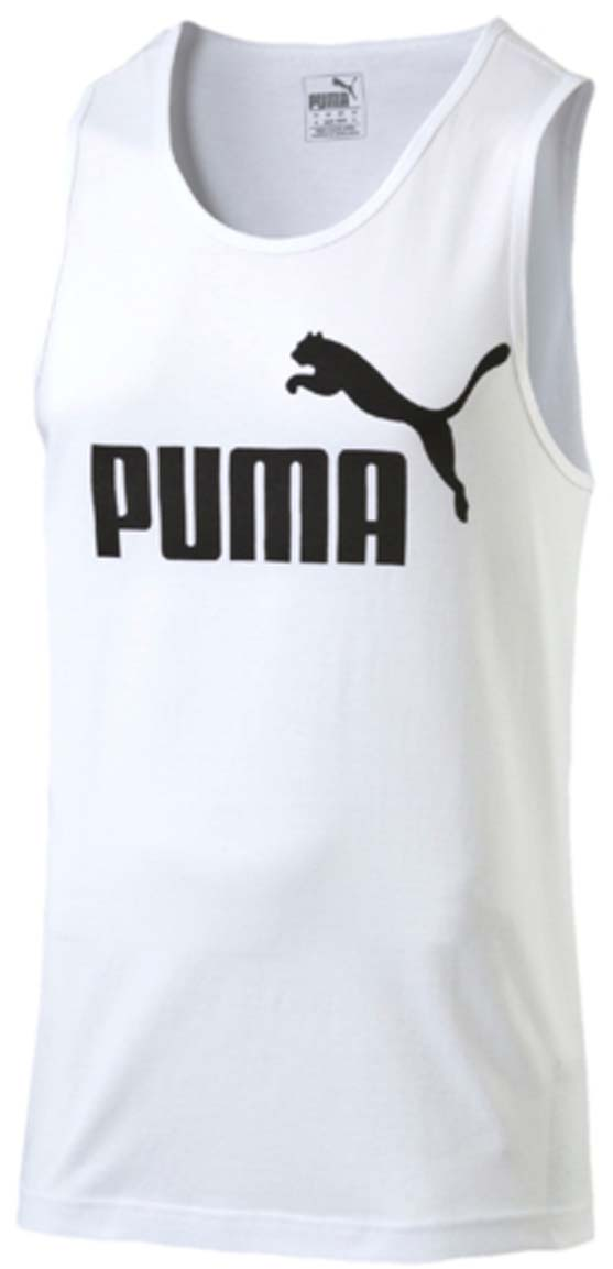 Майка мужская Puma ESS No.1 Tank, цвет: белый. 838242_02. Размер XL (50/52) afs jeep winter men s long trousers mens straight jeans casual loose waistline autumn long trouser man male botton plus size 42