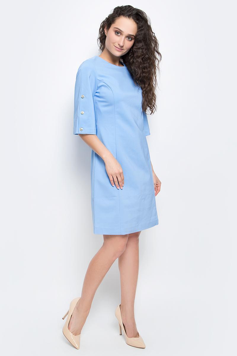 Платье Baon, цвет: голубой. B457032_Midday Sky. Размер L (48) платье baon цвет бледно голубой b457056