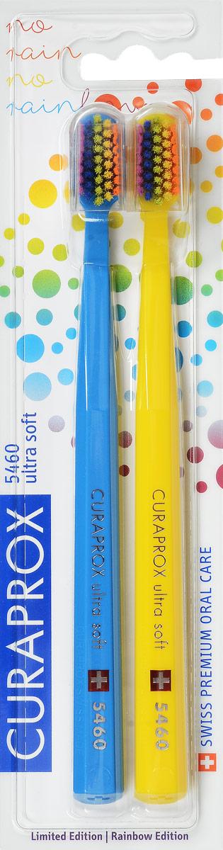 CS 5460 Duo Rainbow Edition Набор зубных щеток Ultrasoft, цвет: голубой, желтый, d 0,10 мм (2 шт)CS 5460 ultrasoft_голубой, желтыйЩетки предназначены для ежедневного очищения зубов. Каждая щетка содержит 5460 мягких активных щетинок (диаметр 0,10мм) и обеспечивает качественное и нетравматичное удаление зубного налета.