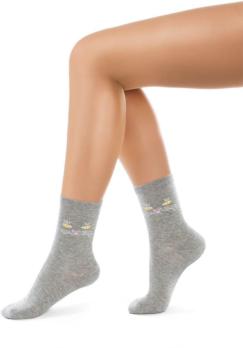 Носки женские Charmante, цвет: серый меланж. SCHK-1408. Размер 23 (35/37)SCHK-1408Женские носки Charmante с удлиненным паголенком изготовлены из высококачественного материалаобеспечивающего великолепную посадку. Носки отличаются элегантным внешним видом. Удобная широкая резинка идеально облегает ногу и не пережимает сосуды, усиленные пятка и мысок повышают износоустойчивость носка.