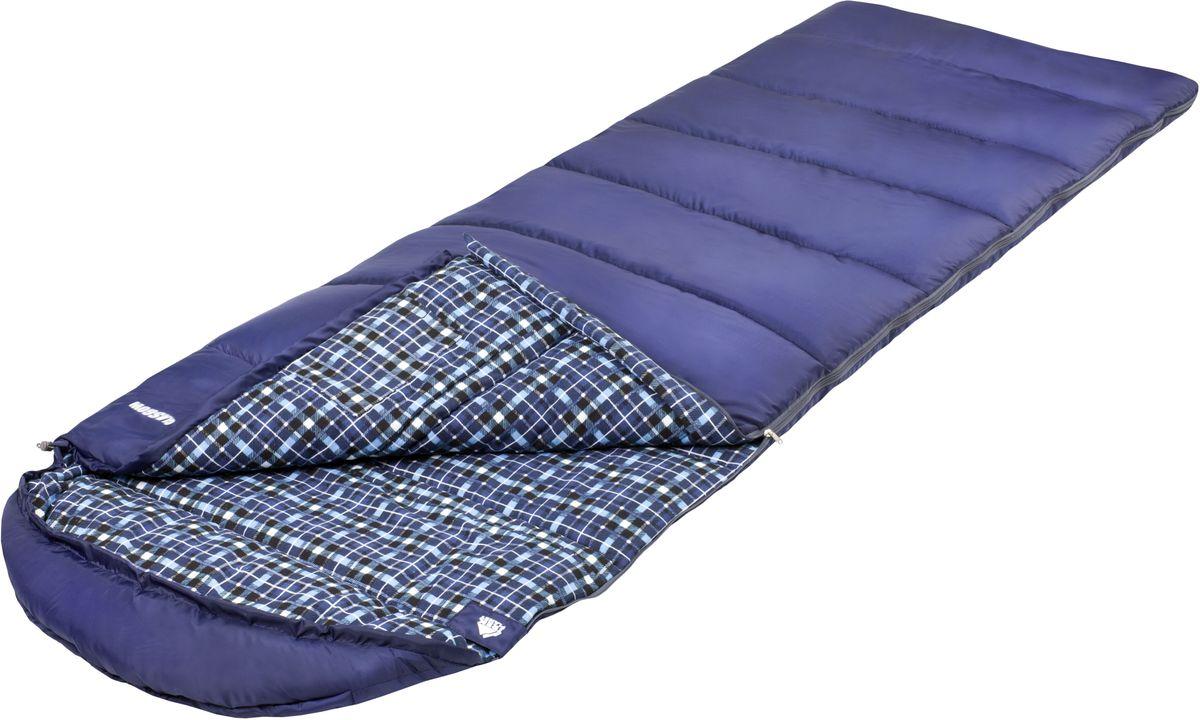 Спальный мешок Trek Planet Glasgow, цвет: синий, левосторонняя молния палатка trek planet indiana 4