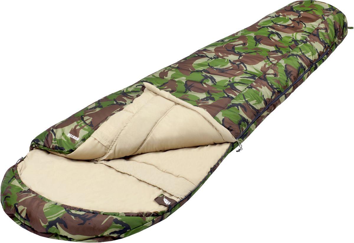 Спальный мешок TREK PLANET Hunter, цвет: камуфляж, левосторонняя молния палатка trek planet indiana 4
