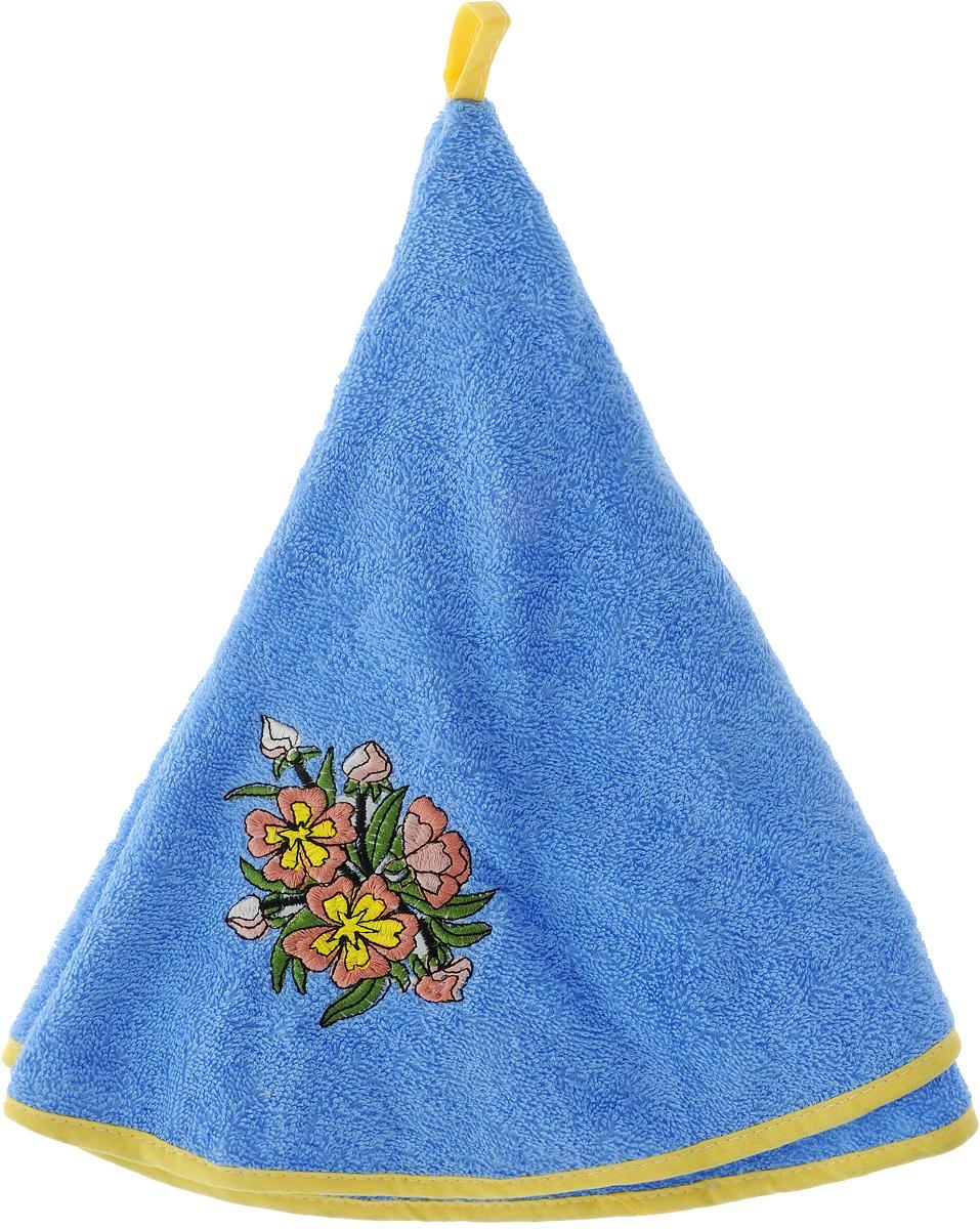 Полотенце Soavita Цветы, цвет: голубой, диаметр 70 см48811_голубой/цветыКруглое полотенце Soavita выполнено из 100% хлопка. Изделие отлично впитывает влагу, быстро сохнет, сохраняет яркость цвета и не теряет форму даже после многократных стирок. Полотенце очень практично и неприхотливо в уходе. Оно создаст прекрасное настроение и украсит интерьер кухни.