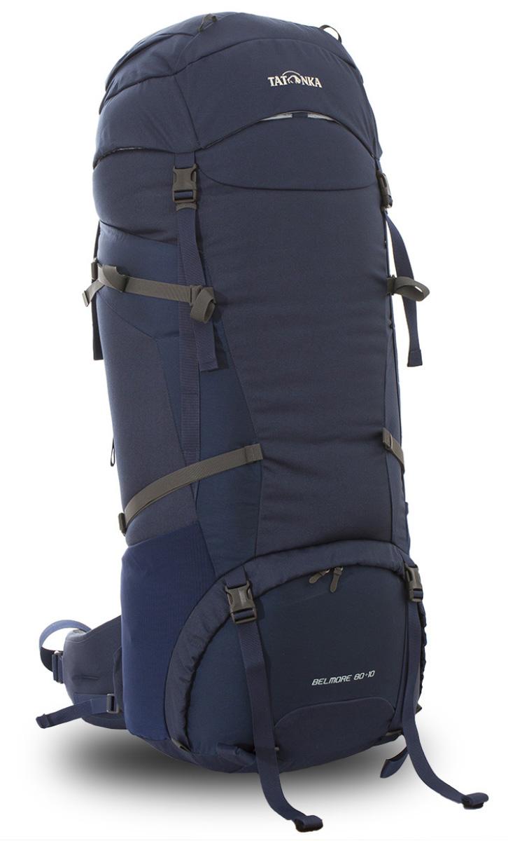 Рюкзак туристический Tatonka Belmore, цвет: темно-синий, 90 лDI.6036.004Классический туристический рюкзак Tatonka Belmore выполнен в строгом дизайне из прочной ткани Textreme 6.6. Два просторных отделения позволит с удобством разместить все необходимые в походе или путешествии вещи. За счет объемной крышки и расширяющегося основного отделения объем рюкзака достигает 90 литров. Прочная удобная спинка рюкзака выполнена с учетом анатомических особенностей спины человека, благодаря этому с рюкзаком будет комфортно идти даже в продолжительном походе. Нижнее и основное отделения рюкзака разделены съемной перегородкой на молнии, одним движением их можно соединить между собой или снова разделить. Доступ в основное отделение осуществляется через верхний расширяющийся вход, а нижнее отделение оснащено молнией с двумя бегунками, благодаря чему можно получить доступ к конкретным нужным вещам, не открывая молнию полностью. Особенности:- Система подвески Y1.- Одно основное отделение, увеличивающееся в объеме в верхней части.- Объемная крышка рюкзака с крючком для ключей. - 4 петли на крышке. - Крышка рюкзака регулируется по высоте (до 25 см выше стандартного положения).- Затяжка внутреннего отделения на один или два шнура, в зависимости от объема заполнения.- 4 боковые затяжки позволяют регулировать объем.- Петли для крепления треккинговых палок.- Два боковых просторных кармана.- Широкий плотный набедренный пояс с двумя параметрами регулировки (по ширине и степени прилегания к рюкзаку).- Регулировка спины рюкзака позволяет отрегулировать высоту и натяжение лямок относительно спины рюкзака.- Спинка рюкзака выполнена с учетом анатомических особенностей спины человека.- Сетчатые элементы в спине и набедренном поясе обеспечивают вентиляцию в жаркую погоду.- Регулируемый по ширине и высоте нагрудный ремень.- В нагрудный ремень вшита резинка для комфорта движения.- Прочная ручка для переноски и помощи при надевании рюкзака.- Молния в нижнее отделение оснащена двумя бегунками.- Перегоро