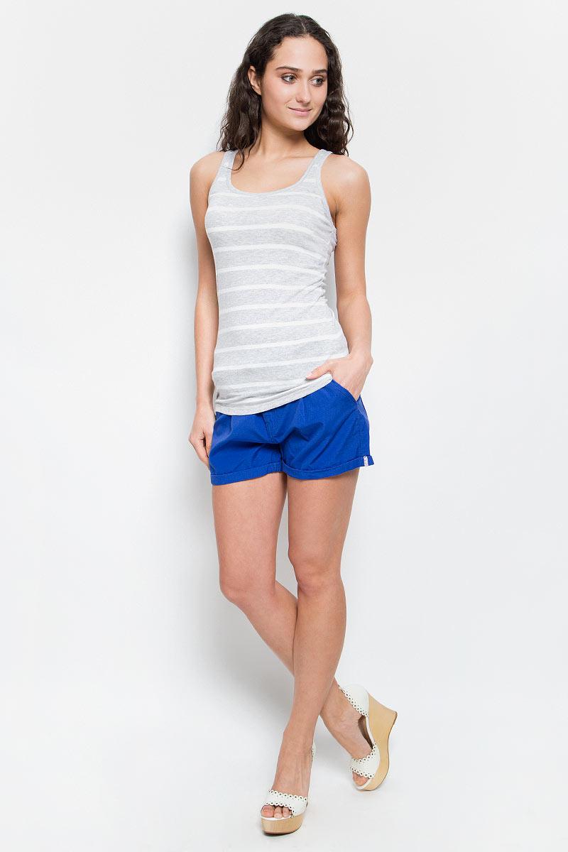 Майка женская Baon, цвет: светло-серый меланж. B257003_Silver Melange Striped. Размер L (48) платье baon цвет серый b457530 silver melange размер l 48