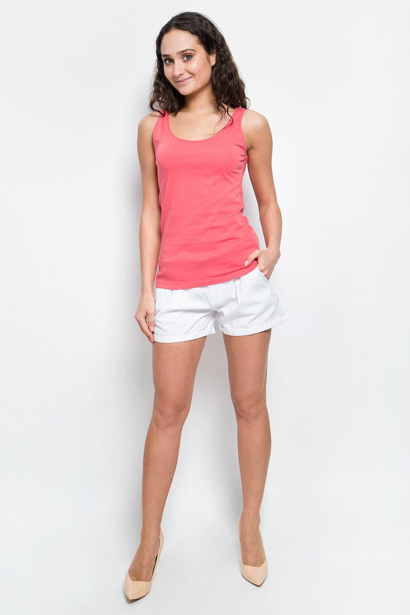 Майка женская Baon, цвет: темно-розовый. B257202_Pieplant. Размер M (46)B257202_PieplantЖенская майка Baon изготовлена из эластичного хлопка. Модель с круглым вырезом горловины выполнена в лаконичном дизайне. Комфортная майка - отличный выбор на каждый день.
