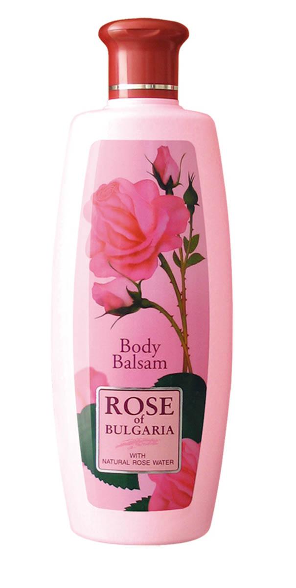 """Rose of Bulgaria Лосьон для тела, 330 мл62590Изысканная нежность и мягкость кожи надолго! Лосьон для тела """"Rose of Bulgaria"""" имеет легкую текстуру и нежный приятный аромат, быстро впитывается и не оставляет следов на одежде. Прекрасно увлажняет и смягчает кожу, обеспечивает необходимое питание, восстанавливает защитные свойства кожи. Надолго возвращает ощущение комфорта. Формула лосьона содержит уникальную розовую воду с большим содержанием эфирного розового масла, витамин Е и экстракт розмарина. После применения лосьона кожа становится гладкой, нежной и бархатистой.Уникальная натуральная композиция включает в себя розовую воду с большим содержанием эфирного розового масла, витамин Е и экстракт розмарина. Формула создана специально для заботы о коже, ежедневно подвергающейся агрессивному воздействию окружающей среды. Восстанавливает клеточный метаболизм. Прекрасно впитывается. Поддерживает необходимый водно-жировой баланс, обладает противовоспалительным и антиаллергическим действием, оказывает успокаивающее воздействие на кожу. Сохраняет ее эластичность и мягкость, радуя нежным ароматом цветков розы."""