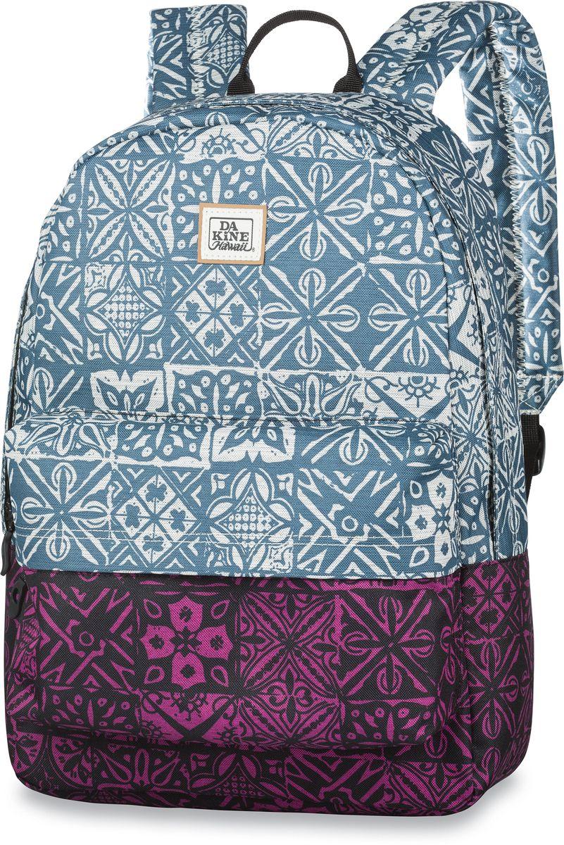 Рюкзак городской Dakine 365 Pack, цвет: голубой, фуксия, черный, 21 л00121621 8130085Городской рюкзак Dakine 365 Pack выполнен извысококачественного полиэстера, имеет вместительноеосновное отделение, в которое с легкостью помещаетсяпапка формата A4. В рюкзаке имеется встроенноеусиленное отделение для ноутбука и является отличнымвариантом для учебы и отдыха! Вместительный карманорганайзер с внутренним кармашком для телефона,фронтальный карман на молнии, два боковых кармана длянапитков или мелочей - максимальная функциональность.Идеально подходит для ежедневных прогулок иприключений.