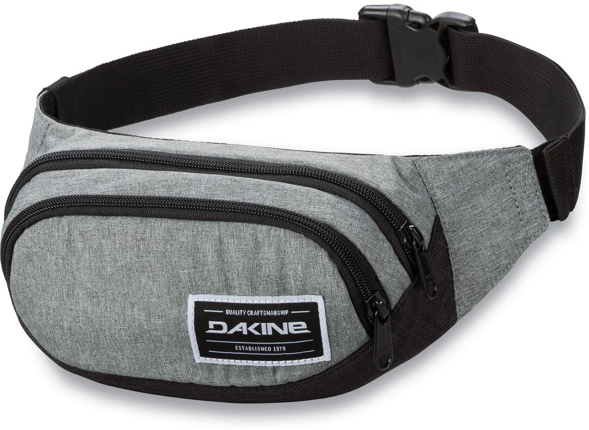 Сумка поясная Dakine Hip Pack, цвет: серый, черный, 0,6 л