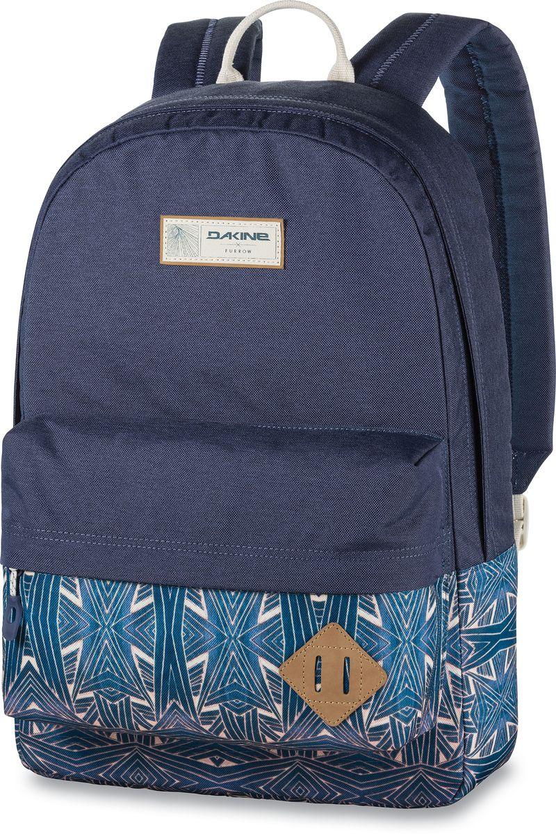 Рюкзак городской Dakine 365 Pack цвет: темно-синий, голубой, 21 л00127057 8130085Городской рюкзак Dakine 365 Pack выполнен извысококачественного полиэстера, имеет вместительноеосновное отделение, в которое с легкостью помещаетсяпапка формата A4. В рюкзаке имеется встроенноеусиленное отделение для ноутбука и является отличнымвариантом для учебы и отдыха! Вместительный карманорганайзер с внутренним кармашком для телефона,фронтальный карман на молнии, два боковых кармана длянапитков или мелочей - максимальная функциональность.Идеально подходит для ежедневных прогулок иприключений.