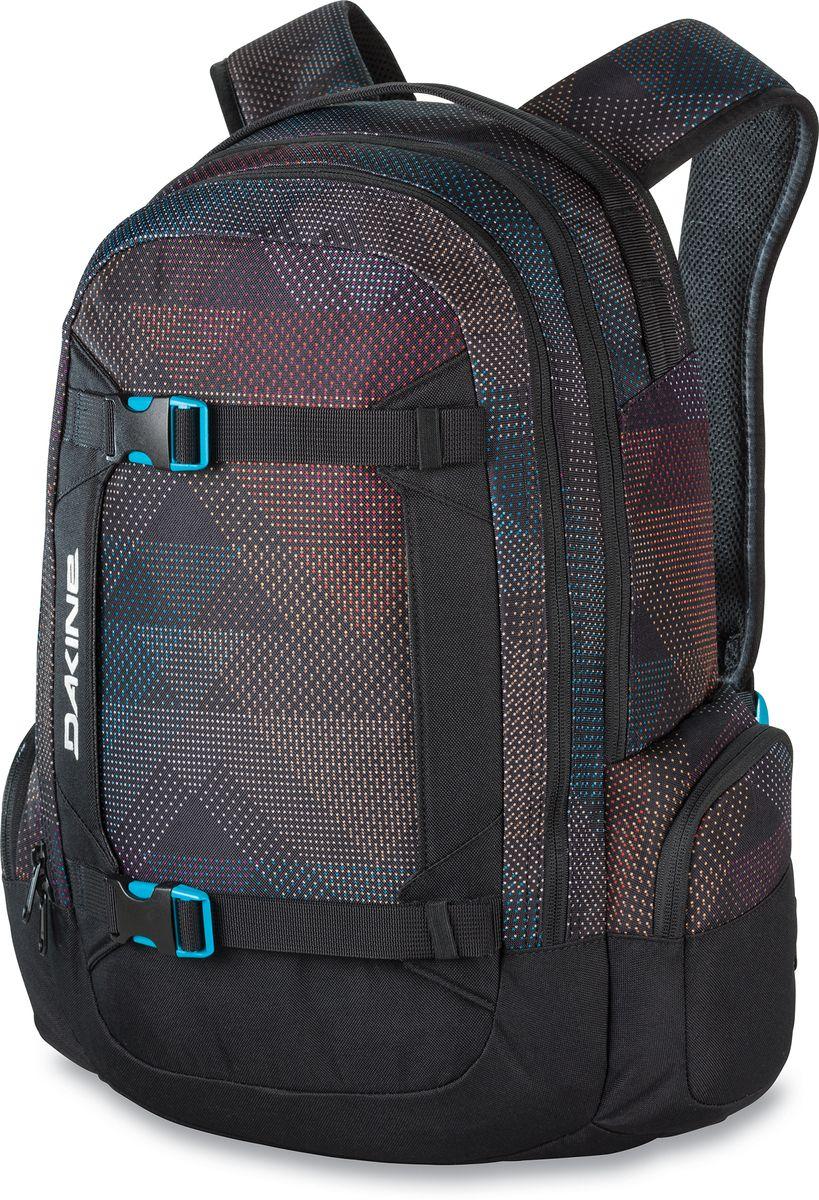 Рюкзак женский Dakine Mission, цвет: черный, мультиколор, 25 л
