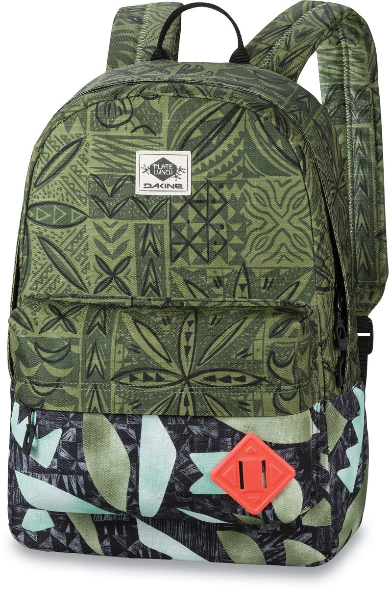 Рюкзак городской Dakine 365 Pack, цвет: темно-зеленый, мультиколор, 21 л00127063 8130085Городской рюкзак Dakine 365 Pack выполнен извысококачественного полиэстера, имеет вместительноеосновное отделение, в которое с легкостью помещаетсяпапка формата A4. В рюкзаке имеется встроенноеусиленное отделение для ноутбука и является отличнымвариантом для учебы и отдыха! Вместительный карманорганайзер с внутренним кармашком для телефона,фронтальный карман на молнии, два боковых кармана длянапитков или мелочей - максимальная функциональность.Идеально подходит для ежедневных прогулок иприключений.
