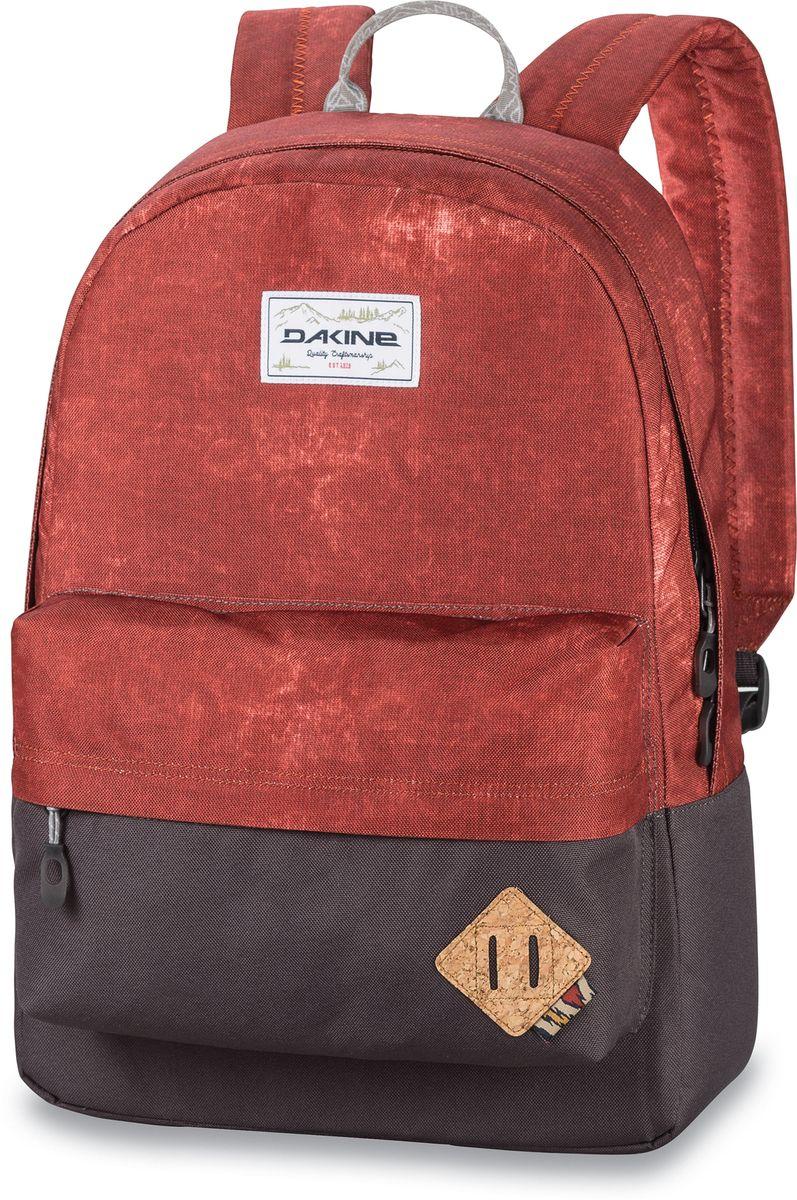 Рюкзак городской Dakine 365 Pack, цвет: терракотовый, коричневый, 21 л00127061 8130085Городской рюкзак Dakine 365 Pack выполнен извысококачественного полиэстера, имеет вместительноеосновное отделение, в которое с легкостью помещаетсяпапка формата A4. В рюкзаке имеется встроенноеусиленное отделение для ноутбука и является отличнымвариантом для учебы и отдыха! Вместительный карманорганайзер с внутренним кармашком для телефона,фронтальный карман на молнии, два боковых кармана длянапитков или мелочей - максимальная функциональность.Идеально подходит для ежедневных прогулок иприключений.