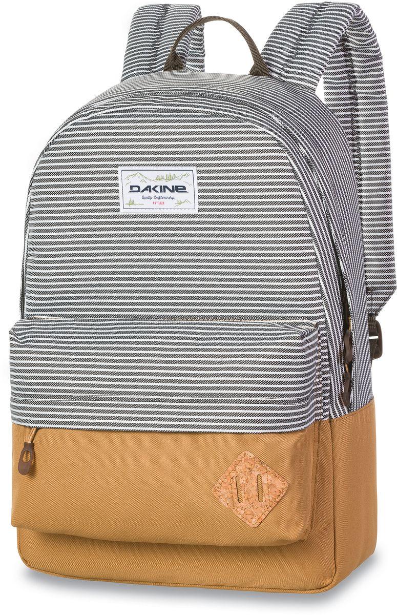 Рюкзак городской Dakine 365 Pack, цвет: белый, черный, песочный, 21 л00127064 8130085Городской рюкзак Dakine 365 Pack выполнен извысококачественного полиэстера, имеет вместительноеосновное отделение, в которое с легкостью помещаетсяпапка формата A4. В рюкзаке имеется встроенноеусиленное отделение для ноутбука и является отличнымвариантом для учебы и отдыха! Вместительный карманорганайзер с внутренним кармашком для телефона,фронтальный карман на молнии, два боковых кармана длянапитков или мелочей - максимальная функциональность.Идеально подходит для ежедневных прогулок иприключений.