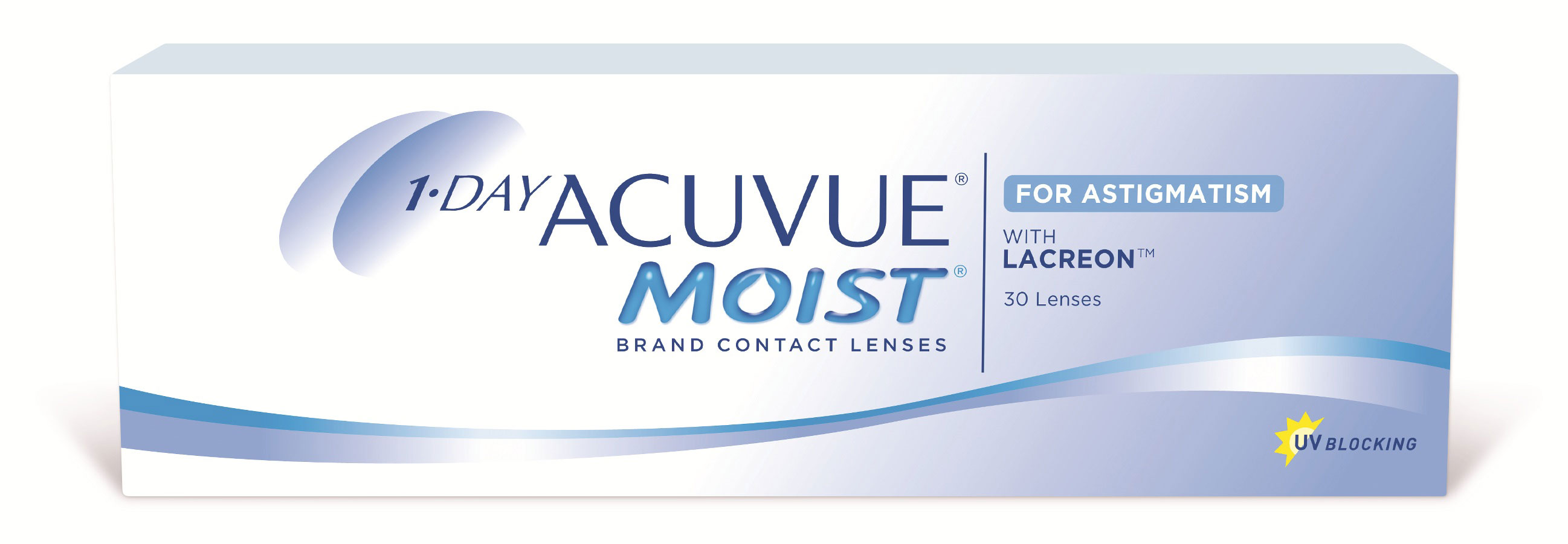 Johnson & Johnson контактные линзы 1-Day Acuvue Moist for Astigmatism/-8.00/-1.25/180100009116with Hydraclear