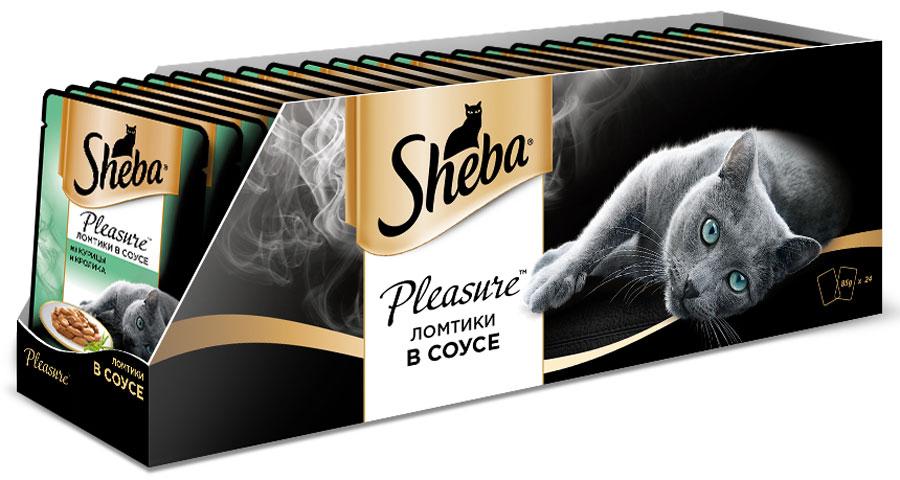 Консервы для взрослых кошек Sheba Pleasure, с курицей и кроликом в соусе, 85 г х 24 шт40746Консервы Sheba Pleasure - это полнорационный консервированный корм для взрослых кошек. Не содержит сои, искусственных красителей и ароматизаторов. Это изумительное блюдо со вкусом курицы и кролика кажется воплощением самой нежности. Буквально тающие во рту сочные ломтики из курицы и кролика соединяются вместе под аппетитным соусом, который деликатно подчеркивает тонкий вкус. Такое сочетание навсегда покорит сердце вашей любимицы.Состав: мясо и субпродукты (курица минимум 20%, кролик минимум 5%), таурин, витамины и минеральные вещества. Пищевая ценность в 100 г: белки - 11,0 г; жиры - 3,0 г; зола - 2,0 г; клетчатка - 0,3 г; витамин А - не менее 90 МЕ; витамин Е - не менее 1,0 МЕ; влага - 82 г. Энергетическая ценность в 100 г: 75/314 кДж ккал.Вес: 85 г х 24 шт.Товар сертифицирован.Уважаемые клиенты! Обращаем ваше внимание на возможные изменения в дизайне упаковки. Качественные характеристики товара остаются неизменными. Поставка осуществляется в зависимости от наличия на складе.