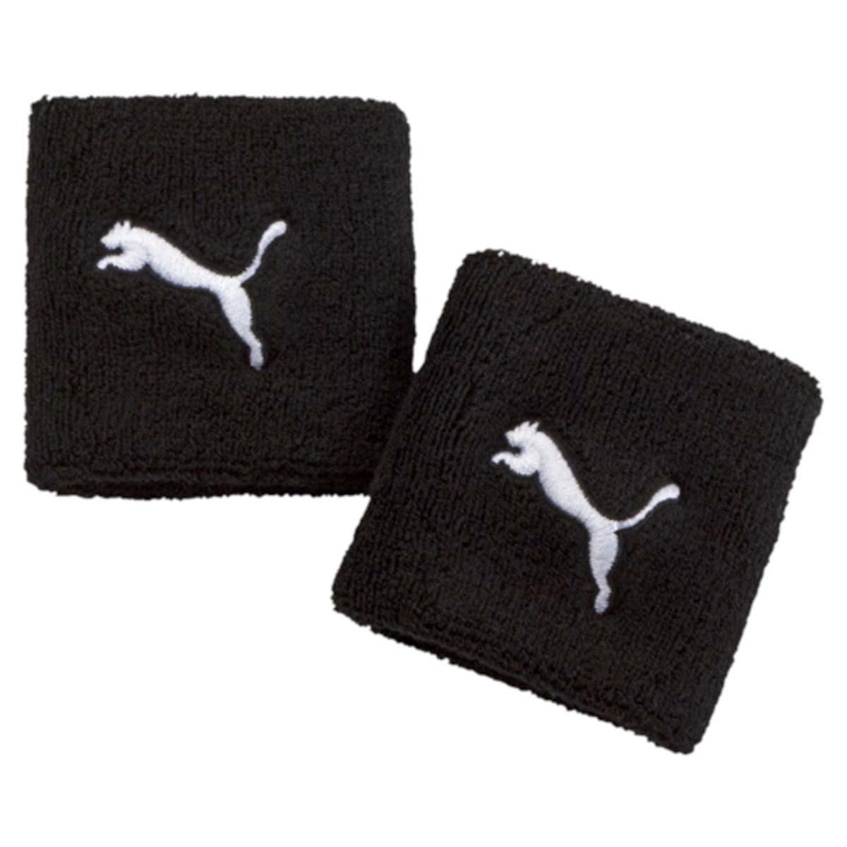 Не стоит волноваться о лишней влаге, которая может помешать занятиям, с новыми напульсниками от Puma. Модель оформлена вшитым логотипом бренда.