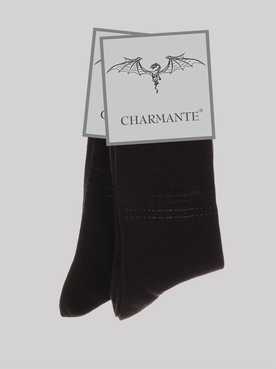 Носки мужские Charmante, цвет: черный. SCHM-1491. Размер 27-29 (42/44)SCHM-1491Мужские носки Charmante с удлиненным паголенком изготовлены из высококачественного материалаобеспечивающего великолепную посадку. Удобная широкая резинка идеально облегает ногу и не пережимает сосуды, усиленные пятка и мысок повышают износоустойчивость носка.