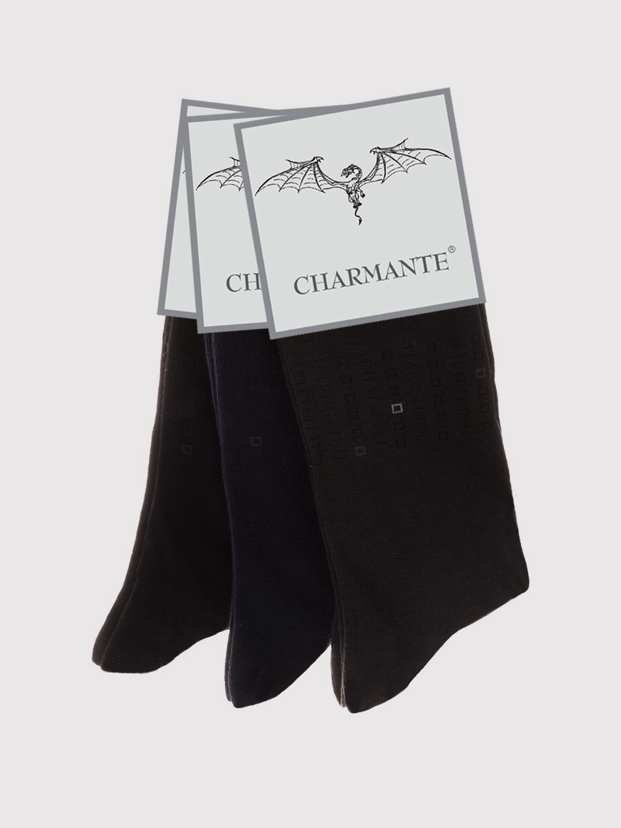 Купить Носки мужские Charmante, цвет: черный. SCHM-1493. Размер 27-29 (42/44)