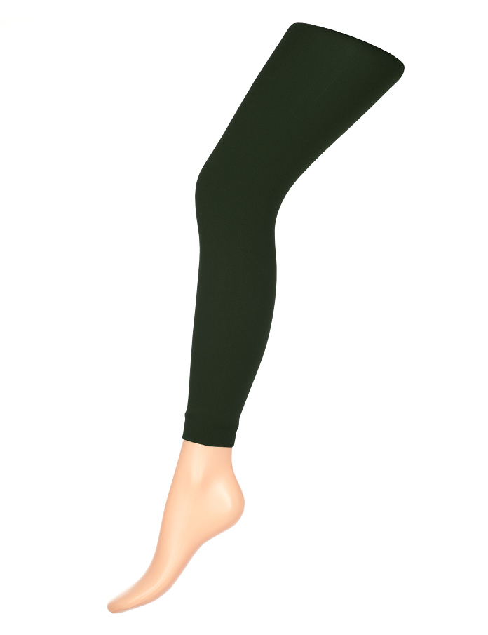 купить Леггинсы женские классические Charmante Glam 80, цвет: темно-зеленый. Размер L/XL (48/50) по цене 148.2 рублей