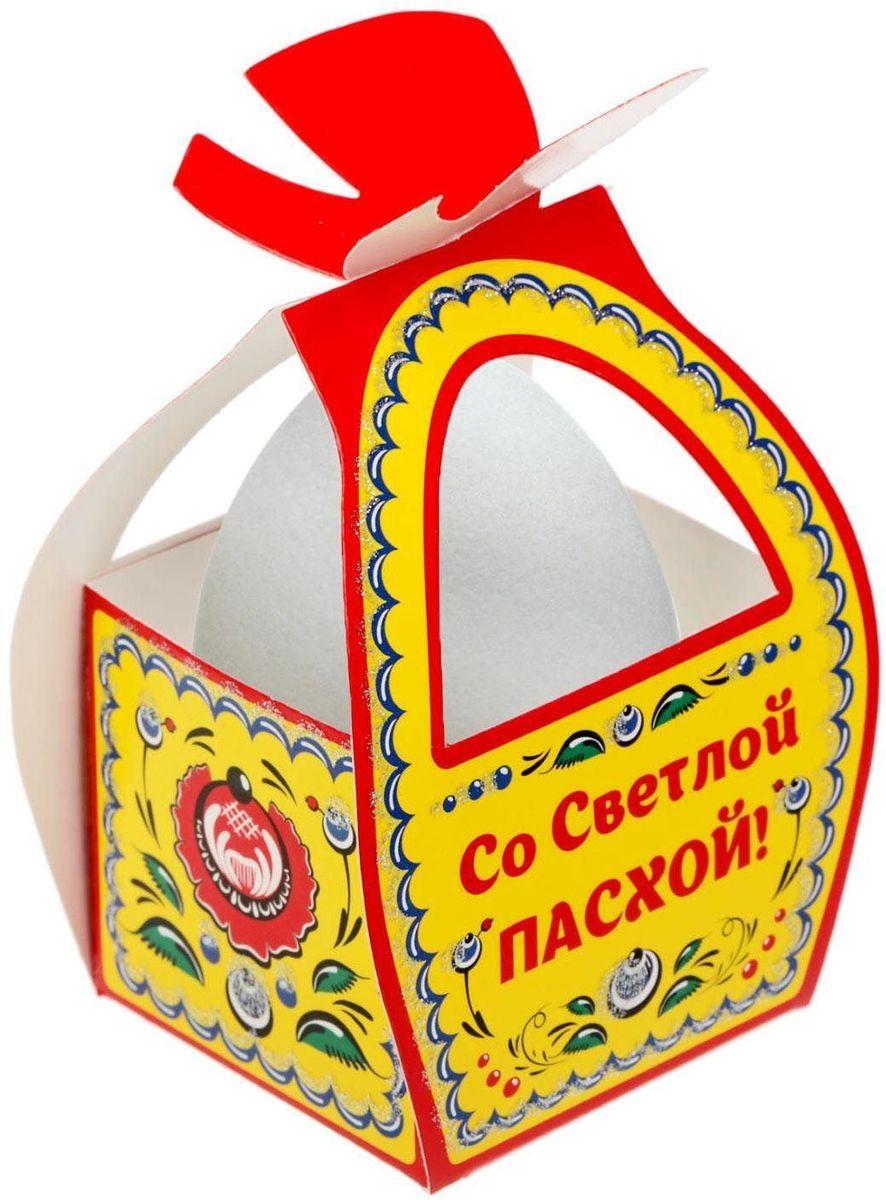 Коробочка подарочная для яйца Со Светлой Пасхой. Городецкая роспись. 1746979862 LHКоробочка подарочная для яйца — новое веяние в мире подарочной упаковки. Представьте, как здорово будет преподнести родным и близким подарки в таком оформлении. Душевный дизайн в народном стиле и пасхальные символы никого не оставят равнодушным. Коробочка надёжна и легка в использовании. Согните её по линиям и положите внутрь заготовленный презент. Благодаря удобной ручке изделие удобно переносить. Размер заготовки: 13,4 х 26,2 см.