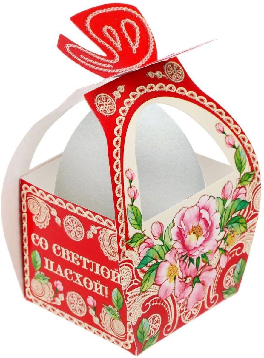 Коробочка подарочная для яйца Со Светлой Пасхой. Цветочная. 17469801746980Коробочка подарочная для яйца — новое веяние в мире подарочной упаковки. Представьте, как здорово будет преподнести родным и близким подарки в таком оформлении. Душевный дизайн в народном стиле и пасхальные символы никого не оставят равнодушным. Коробочка надёжна и легка в использовании. Согните её по линиям и положите внутрь заготовленный презент. Благодаря удобной ручке изделие удобно переносить. Размер заготовки: 13,4 х 26,2 см.