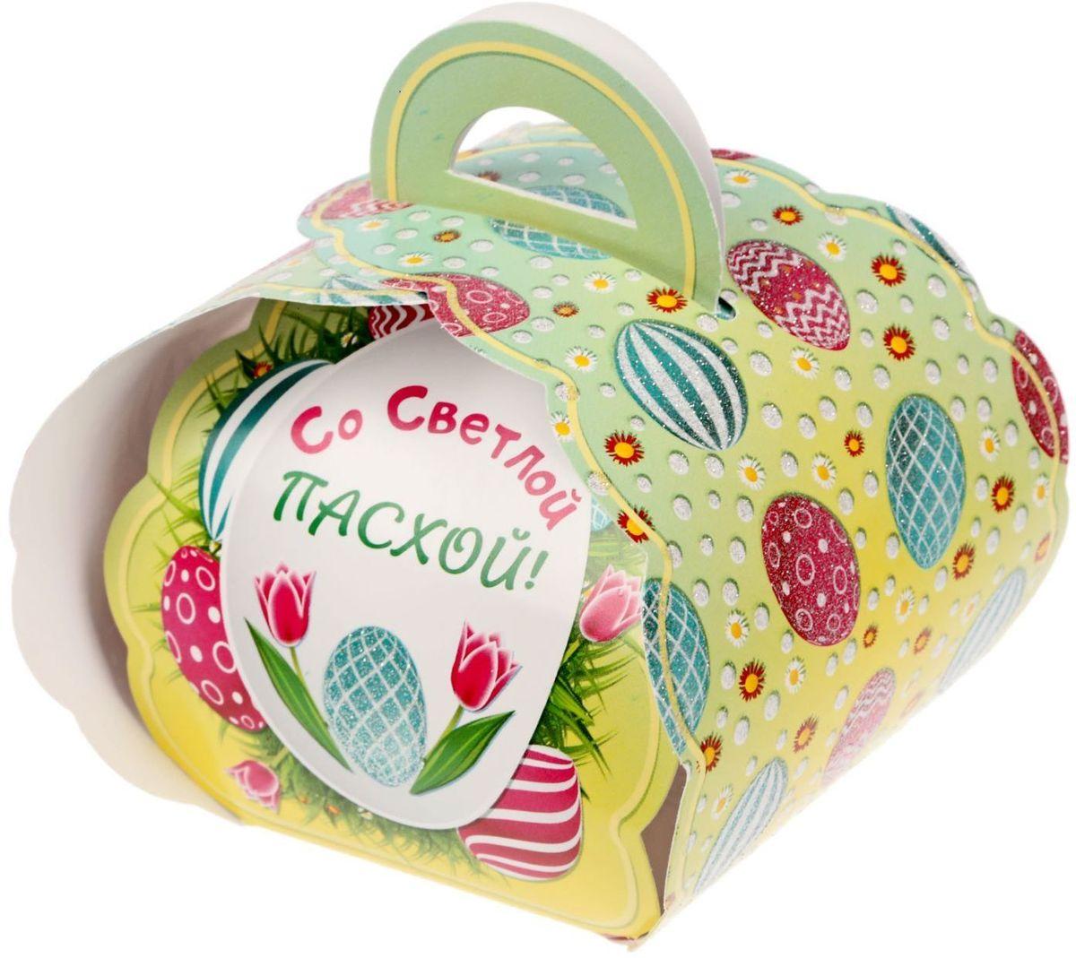 Коробочка подарочная для яйца Со светлой пасхой! Писанки. 17469891746989Коробочка подарочная для яйца — новое веяние в мире подарочной упаковки. Представьте, как здорово будет преподнести родным и близким подарки в таком оформлении. Душевный дизайн в народном стиле и пасхальные символы никого не оставят равнодушным. Коробочка надёжна и легка в использовании. Согните её по линиям и положите внутрь заготовленный презент. Благодаря удобной ручке изделие удобно переносить. Размер заготовки: 13,4 х 26,2 см.