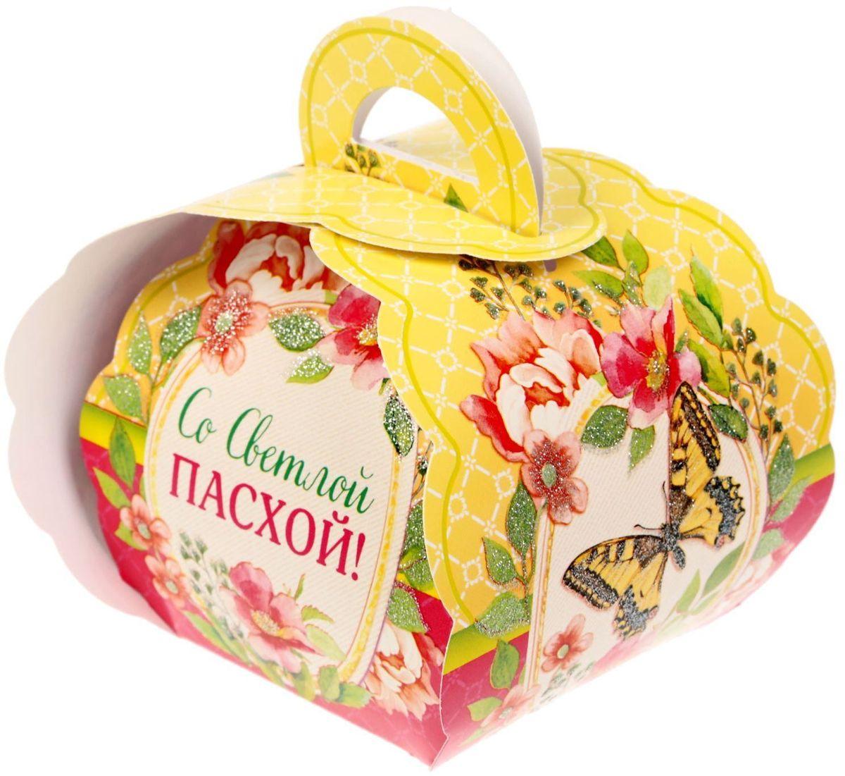 Коробочка подарочная для яйца Со Светлой Пасхой!. 17616131761613Коробочка подарочная для яйца — новое веяние в мире подарочной упаковки.Представьте, как здорово будет преподнести родным и близким подарки в таком оформлении.Душевный дизайн в народном стиле и пасхальные символы никого не оставят равнодушным.Коробочка надёжна и легка в использовании. Согните её по линиям и положите внутрь заготовленный презент.Благодаря удобной ручке изделие удобно переносить. Размер заготовки: 13,4 х 26,2 см.