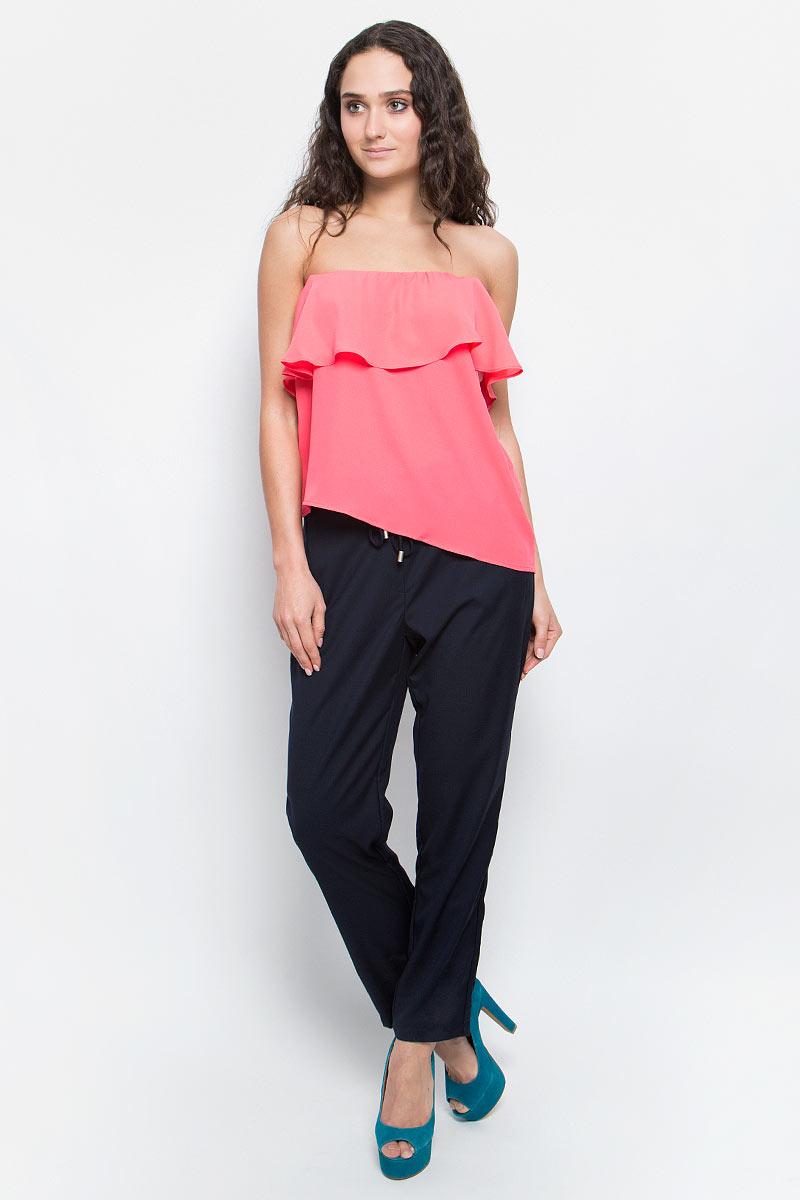 Топ женский Baon, цвет: темно-розовый. B267026_Pieplant. Размер M (46) пуховик женский baon цвет темно синий b006583 размер m 46