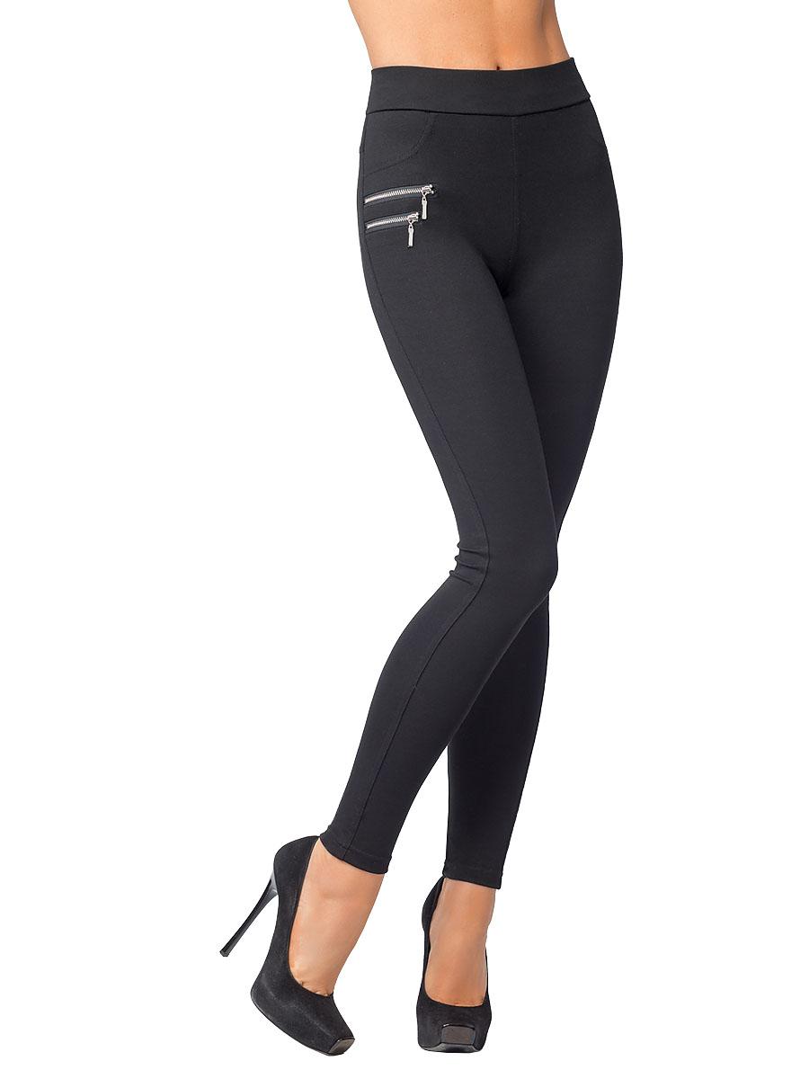 Леггинсы женские Charmante, цвет: черный. LLR1613. Размер XL (48)LLR1613Легинсы облегающего кроя с декоративными карманами по передней и задней деталям. Изделие изготовлено из плотного эластичного трикотажа, оформлено молниями. Высокая посадка и отрезной пояс формируют визуальный эффект длинных ног.