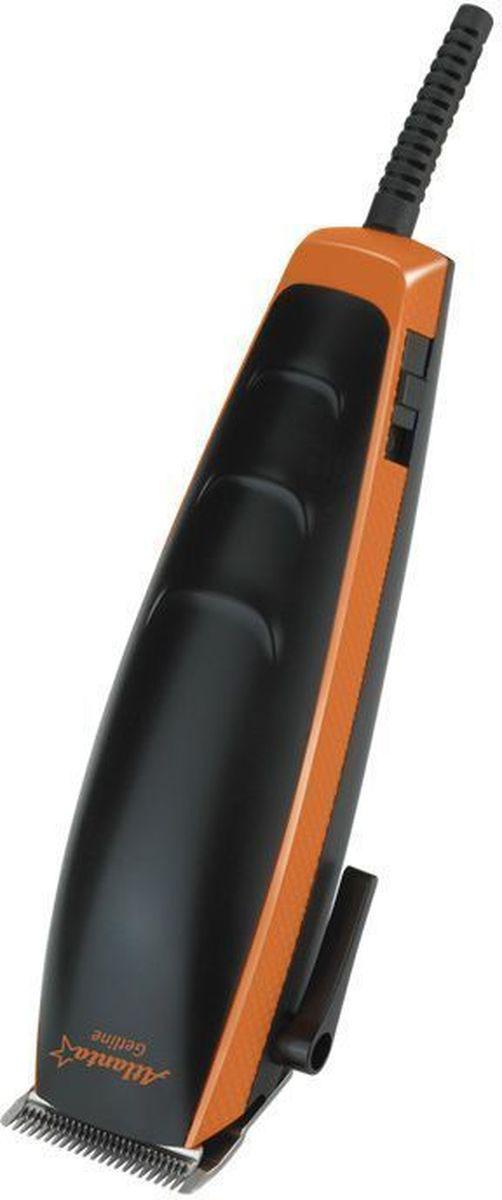 Atlanta ATH-6888, Orange машинка для стрижки волос77.858@25778Машинка для стрижки Atlanta ATH-6888 поможет вам в домашних условиях легко ухаживать за волосами. Она оснащена четырьмя насадками, при помощи которых можно регулировать длину стрижки волос. Режущие лезвия выполнены из высококачественной нержавеющей стали. Удобная нескользящая ручка обеспечивает удобство эксплуатации. Также конструкцией предусмотрена петля для подвешивания прибора на крючок.