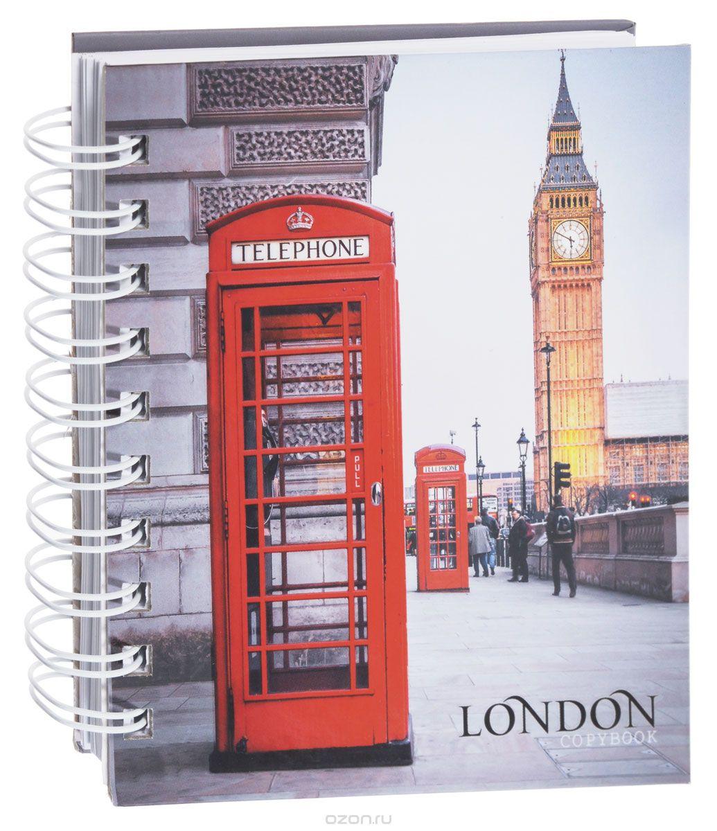 Listoff Тетрадь Лондонский пейзаж 180 листов в клеткуТСЛ61804875Тетрадь Listoff Лондонский пейзаж подойдет как школьнику, так и студенту. Обложка тетради выполнена из прочного картона и оформлена изображением улицы Лондона с видом на Биг-Бен.Внутренний блок тетради на гребне состоит из 180 листов белой бумаги с линовкой в клетку.