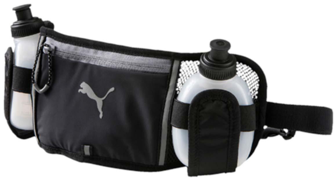 Сумка поясная Puma Pr Bottle Waist Bag, 2 бутылки, 200 мл, цвет: черный. 07443601 бутылка для воды puma shaker water bottle