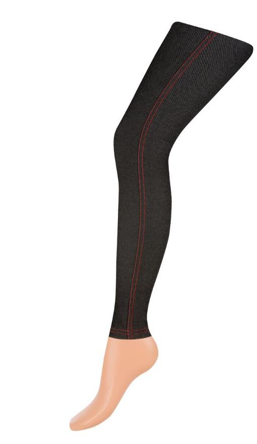 цена Леггинсы женские Charmante Leggins Jeans, цвет: черный, оранжевый. Размер S/M (42/44) онлайн в 2017 году