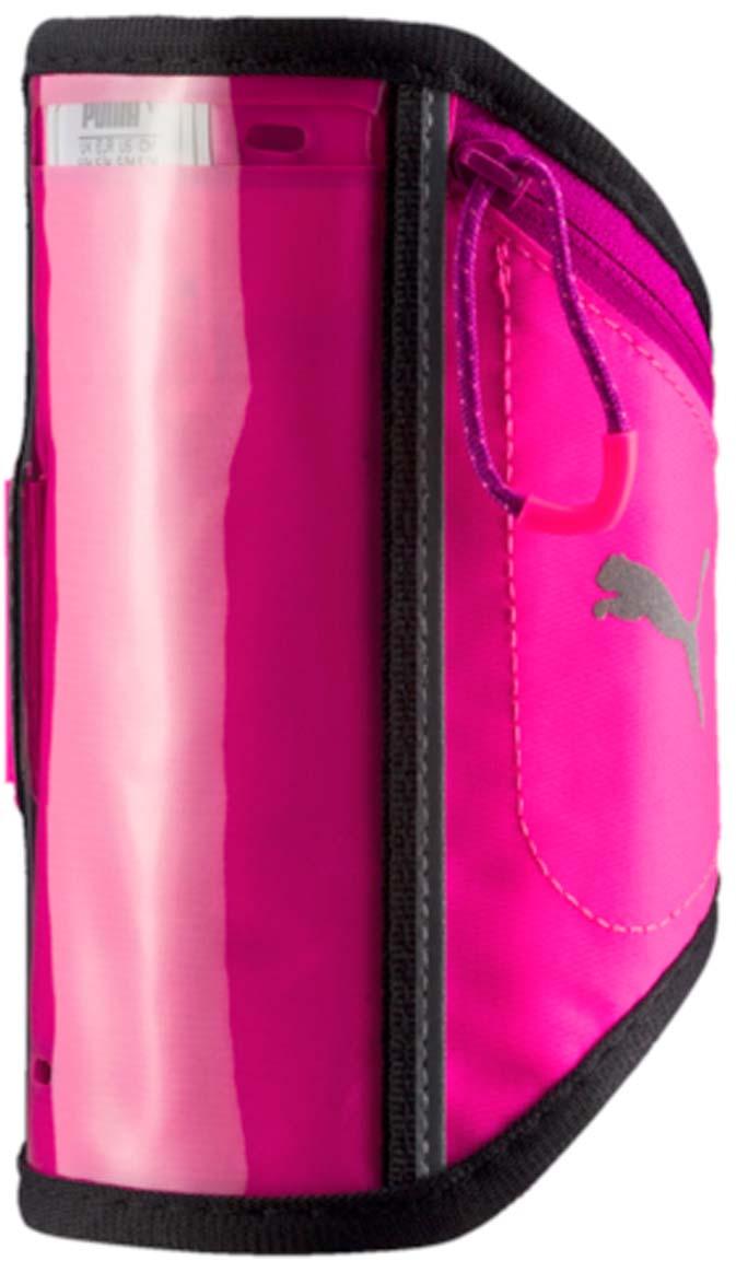Чехол для мобильных устройств Puma Pr I Sport Phone Armband, цвет: фуксия. 05314003. Размер S/MGG-786Нарукавный чехол для бегуна Puma Pr I Sport Phone Armband имеет прозрачное окошко под размер экрана iPhone 6, позволяющее осуществлять сенсорное управление электронным устройством, а также дополнительное отделение на молнии для ключей и мелких предметов. Изделие украшено светоотражающим логотипом Puma. Чехол надежно крепится к руке при помощи застежки с легкой пластичной пряжкой и липучкой для регулировки размера.Как начать бегать: советы тренера. Статья OZON Гид