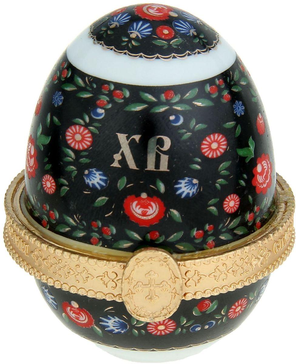 Яйцо-шкатулка Sima-land Хохлома, без ножек, 5 х 5 х 6,5 см